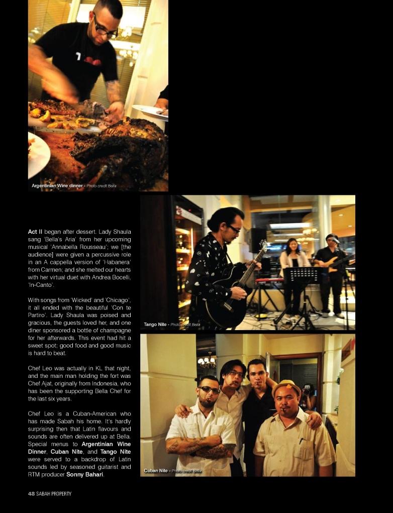Chef Leo Velazquez, Sonny Bahari, Bella, Jesselton Hotel, Gaya Street, Kota Kinabalu, Sabah, Sabah Property Magazine, SabahSongs